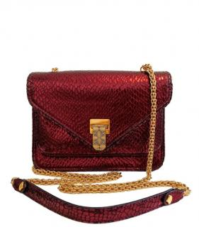 Baraboux Snakeskin Red Yolanda Bag