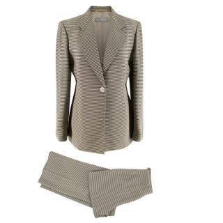 Max Mara Cream & Black Striped Suit