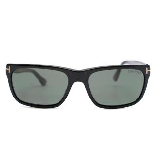 Tom Ford Black Rectangle Polarized Sunglasses