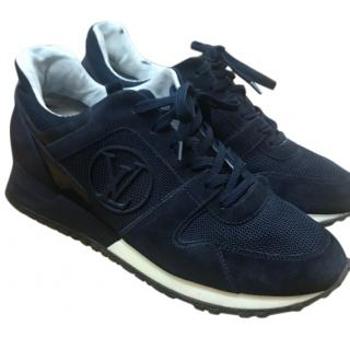 Louis Vuitton Navy Suede & Leather Run Away Sneakers