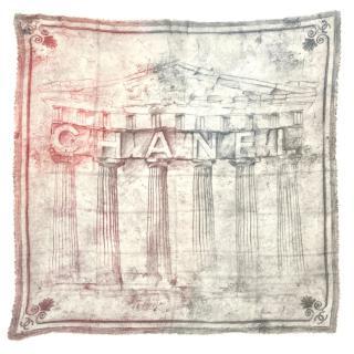 Chanel Cashmere & Silk Colosseum Scarf