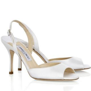 Jimmy Choo Laser Satin Slingback Sandals