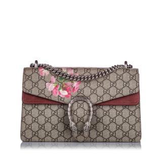 Gucci Small GG Supreme Blooms Dionysus Shoulder Bag