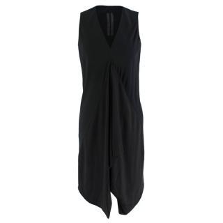 Rick Owens Black Draped Sleeveless Dress