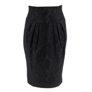 Moschino Black Lace Detailed Skirt