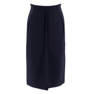 Jil Sander Navy Structured A-Line Skirt