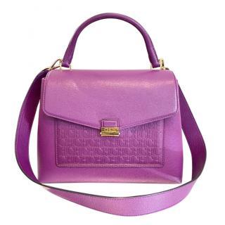 Carolina Herrera Baret Fuchsia Top Handle Bag