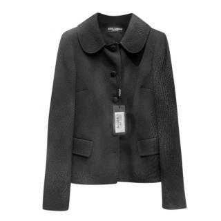Dolce & Gabbana Black Textured Jacket