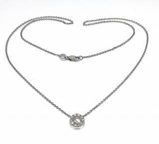 Hearts on Fire Halo Diamond Pendant Necklace
