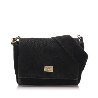 Chanel Wild Stitch Suede Shoulder Bag