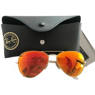 Ray Ban Orange Aviator Sunglasses