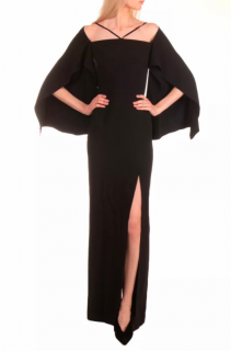 Roland Mouret Cheveley Cold Shoulder Crepe Gown