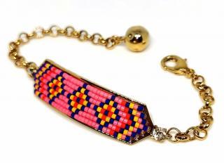 Shourouk aztec beaded adjustable bracelet