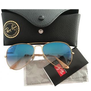 Ray Ban Blue Aviator Sunglasses
