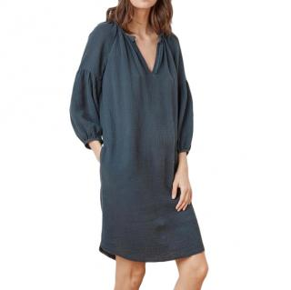 Velvet Blue Cotton Laverne Dress