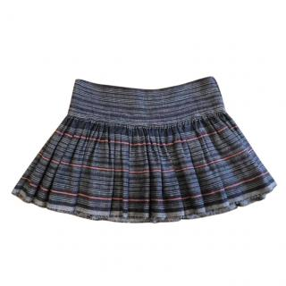 Isabel Marant Tweed Pleated Mini Skirt