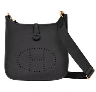 Hermes Clemence Leather Black Evelyne 29 GHW