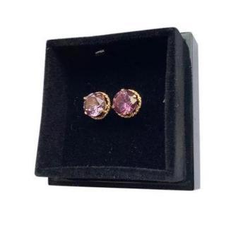 Bespoke Alexandrite 14kt Gold Stud Earrings