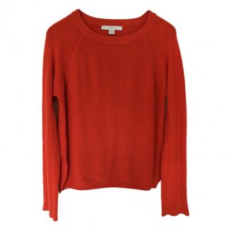 Bamford orange cashmere & wool jumper