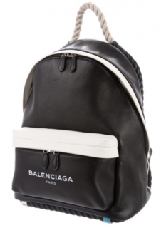 Balenciaga Limited Edition Navy & White Leather Backpack