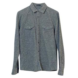 Anthony Thomas Melillo Grey Marl  Cotton Shirt