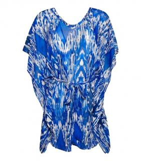 Heidi Klein Blue Tie-Dye Beach Cover-Up