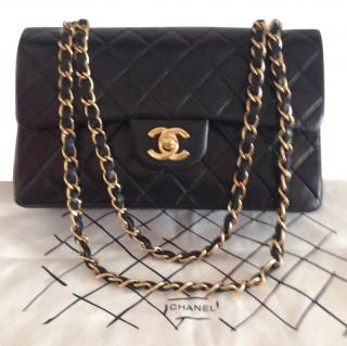 Chanel Small Leather Classic Double Flap Bag.