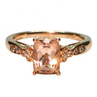 Le Vian Diamond Set Peach Morganite Ring