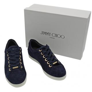 Jimmy Choo Blue Suede Cash Trainers