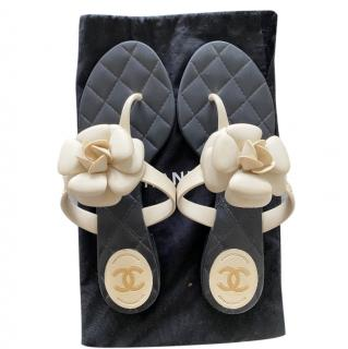 Chanel Camellia Thong Sandals