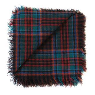 Kenzo Wool Plaid Scarf