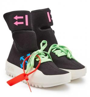 Off-White High Top Moto Wrap Sneakers