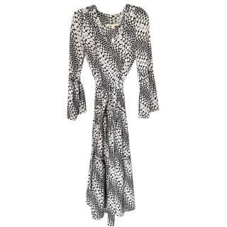 Michael Michael Kors Black & White Floral Print Dress