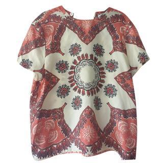 Valentino Paisley Print Silk Top