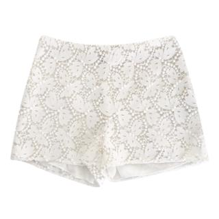 Valentino White Broderie Anglaise Shorts