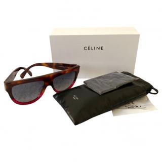 Celine Oversize D Frame Tortoiseshell Sunglasses