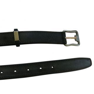 Berluti blue leather belt 36