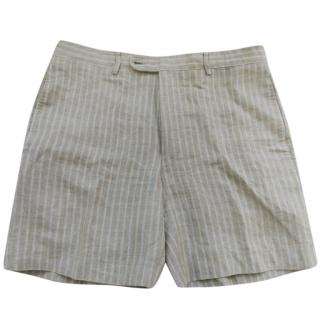 Hermes striped linen shorts