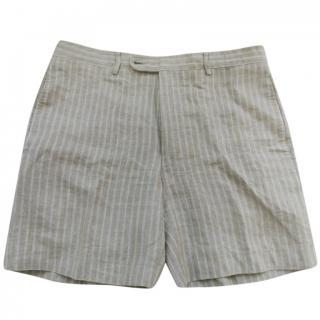 Hermes striped linen shorts