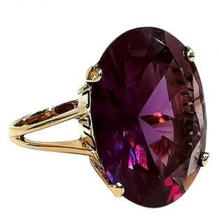 Bespoke vintage 22x18mm Alexandrite ring