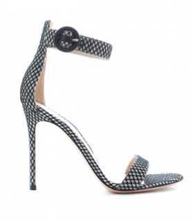 Gianvito Rossi glittered ankle strap sandals