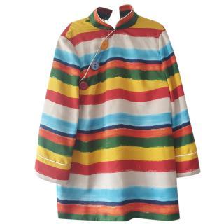 Dolce & Gabbana Striped High Neck Blouse
