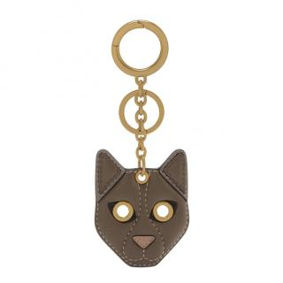 Mulberry Small Classic Grain Cat Keyring