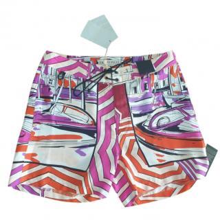 Emilio Pucci Geometric Boat Print Shorts
