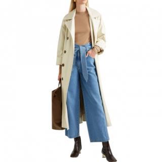 Nanushka Cropped high-rise wide-leg jeans