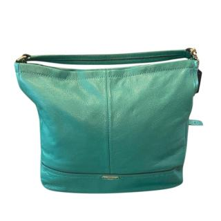 Coach Turquoise Leather Tote Bag