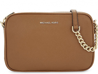 Michael Kors Saffiano Leather Tan Shoulder Bag