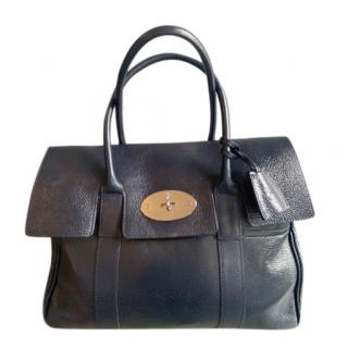 Mulberry Navy Glossy Bayswater Tote