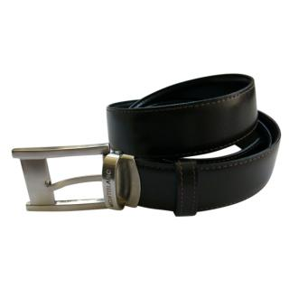 Mont Blanc Black Leather Belt