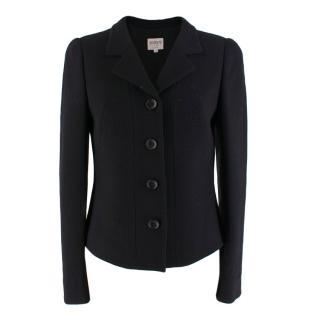 Armani Collezioni Black Button-Up Blazer